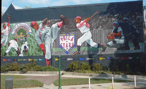 Negro Baseball League Mural, 44th & Parkside Ave, Philadelphia