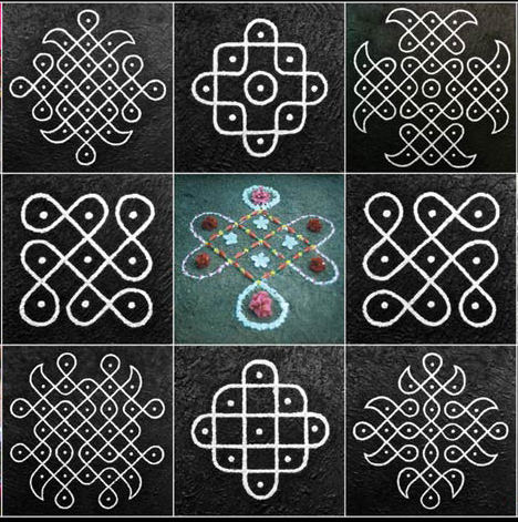 Kolam images from NCC Gallery announcement for Bruce Wall & Josh ...