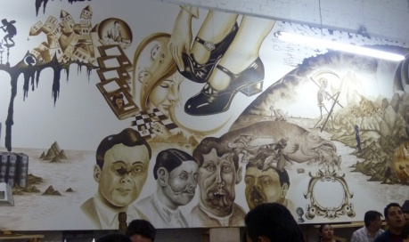 Dr. Lakra's canvas mural. photo: KMc