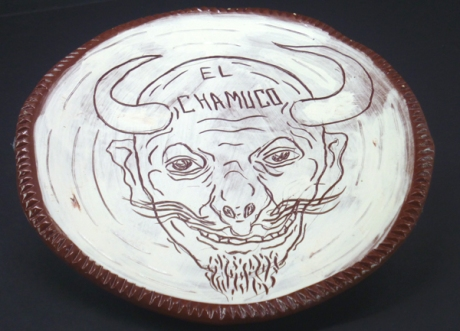 El Chamuco drawn by Cesar Chavez.