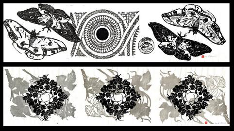 2 horizontal pattern prints © 2011 April Vollmer