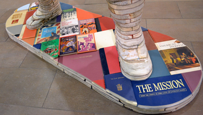 Detail showing Books about War.