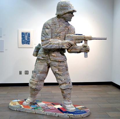 Army Man Made of Books about War © Jarod Charzewski