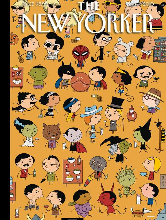 2010 cover © Ivan Brunetti,  New Yorker.