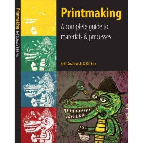 Fick's Printmaking text, cover image by Sean Starwars