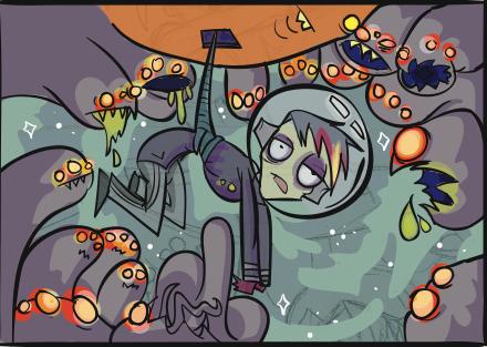 Comic panel © 2013 by Hannah Stephey