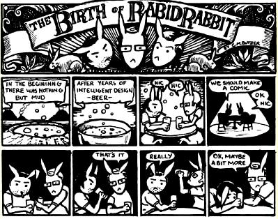 Birth of Rabid Rabbit by C.M. Butzer from www.rabidrabbit.org