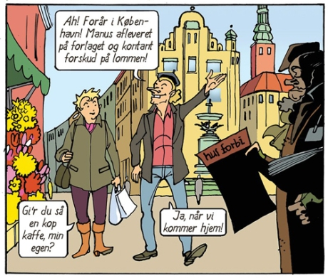 panel from Eks Libris  by Sussi Bech and Frank Madsen