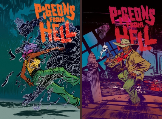Nathan Fox's covers for Pigeons From Hell, Dark Horse Comics.