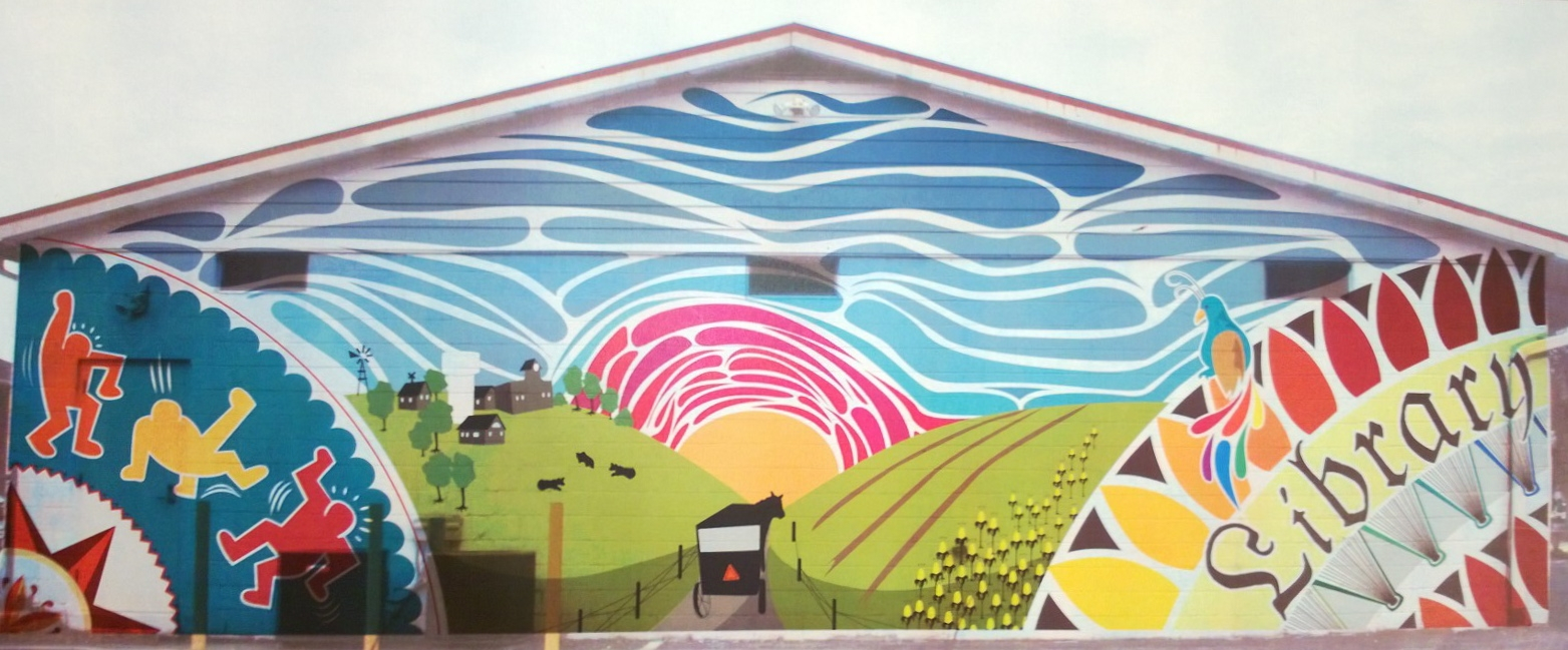 New Mural for Kutztown Library  Illustration Concentration -> Design Mural