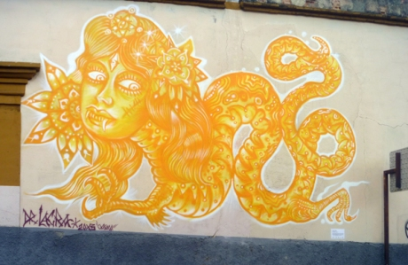 Dr Lakra, Street mural, Porfirio Diaz. Oaxaca.