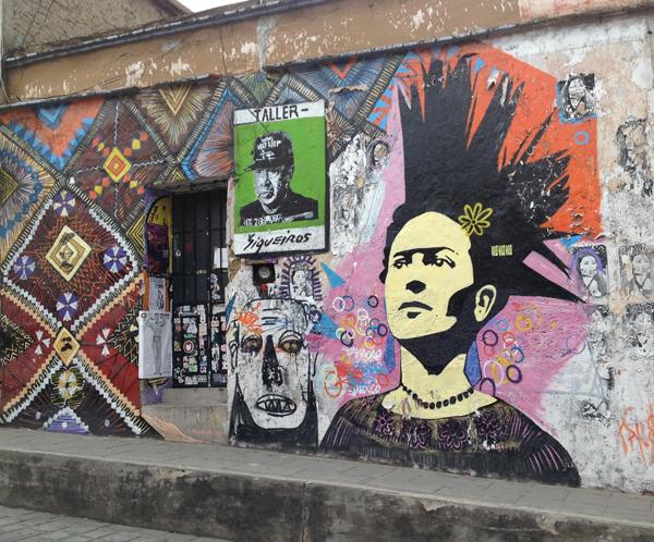 Taller Siqueiros, Yescka's studio and gallery, Calle Porfirio Diaz, Oaxaca.