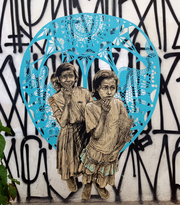 Oaxaca Street art, Swoon, Retna, and maybe, Dr. Lakra.