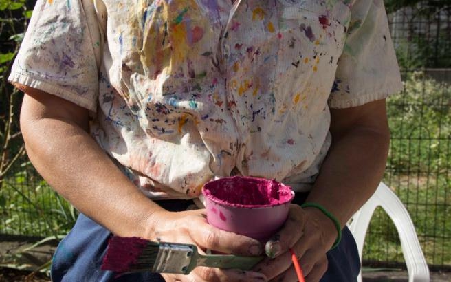 Mural Volunteer, photos © Ann Lemon