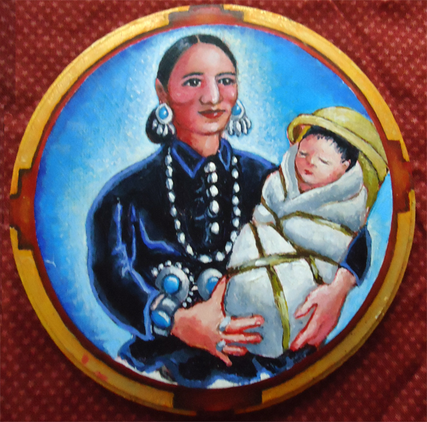 Navajo Madonna and Child by Maureen Yoder. Kutztown