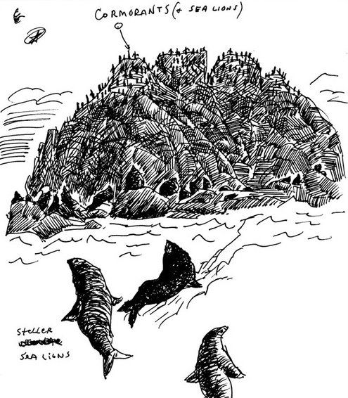 detail from  Bak's Alaska sketchbook/