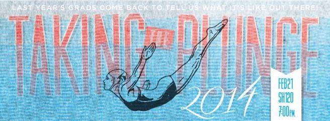 'Taking the Plunge' graphic designed by Prof. Karen Kresge