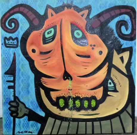 SCOM, Painting on canvas, Taller Siqueiros, Oaxaca.
