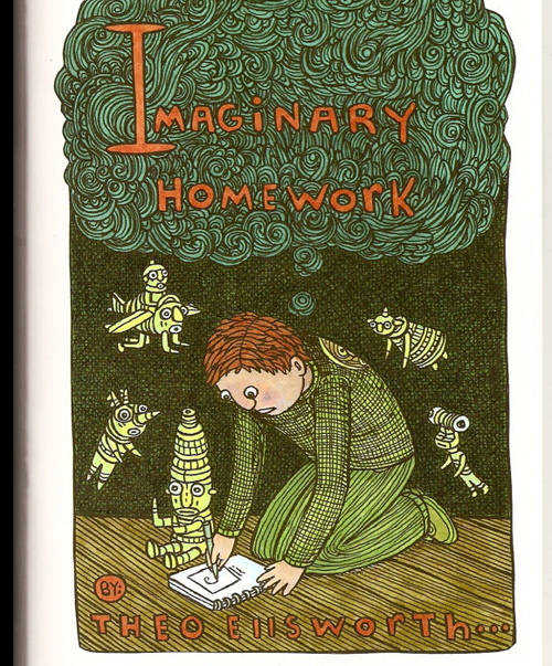Cover Imaginary Homework © Theo Ellsworth 2013