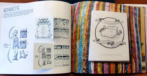 """Mellen included her zines, like 'Bediquette"""" in her self-prom pop-up book."""