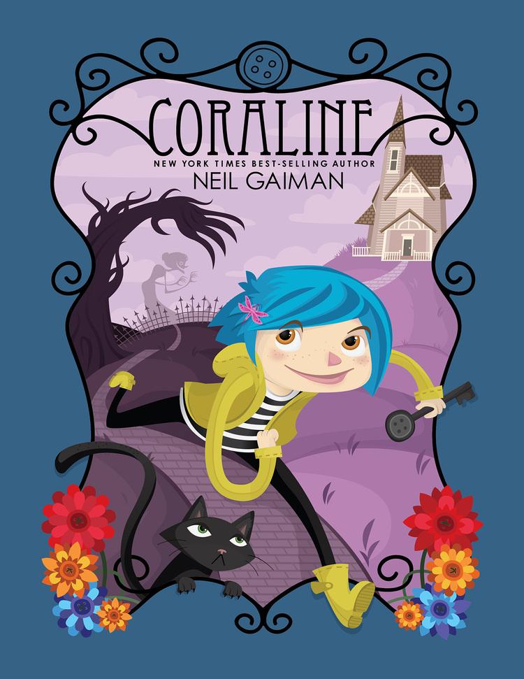 Coraline cover, a  KU class project. © Mellen