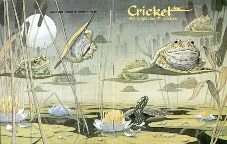 March 1989 Cricket cover by David Wiesner