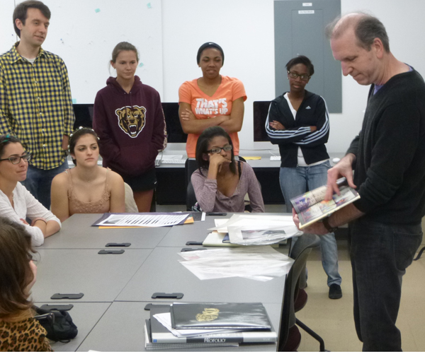David Wiesner sharing his work with Kutztown University students.