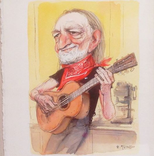 Willie Nelson © Richard Thompson on view until 8/3/14 at Billy Ireland Museum