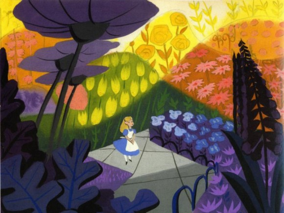 Mary Blair concept art for Alice in Wonderland.