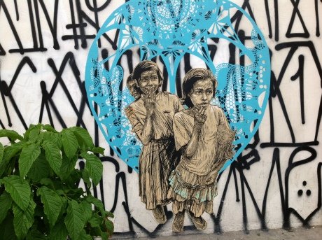 Oaxaca Street art by Swoon. photo © K.McCloskey 2012