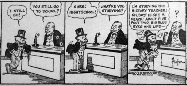From Bud Fisher's Mutt & Jeff, circa 1938.