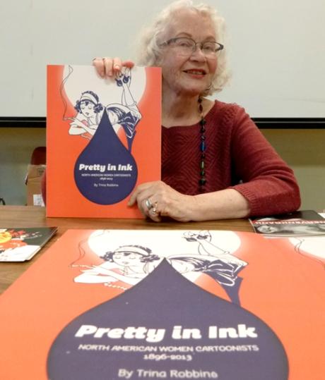 Trina Robbins at PIX, photo 2014 Kevin McCloskey