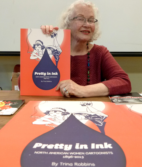Trina Robbins at PIX, photo 2014 Kevin McCloskey