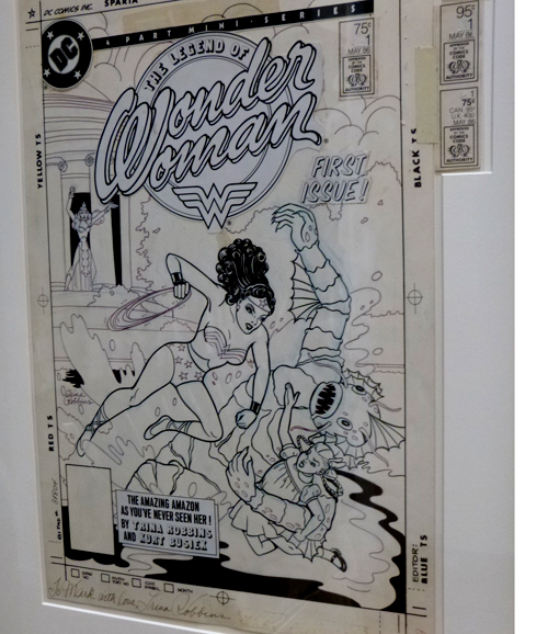 Wonder Woman © Trina Robbins, Billy Ireland collection, Ohio State University.