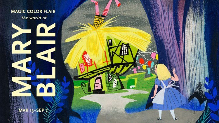 Poster for Mary Blair exhibit at Disney Family Museum San Francisco