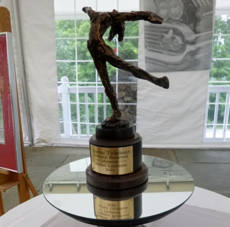 The award is based on a sculpture by Peter Rockwell, Norman Rockwell's son.
