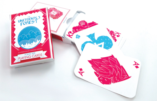 Playing Cards, designed and illustrated by Gabby Shelley. ©2014