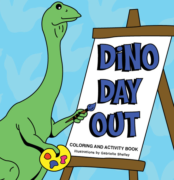 Dino Day Out, cover detail © 2014 Gabby Shelley