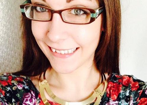 Gabby Shelly, KU Communication Design grad, 2014.
