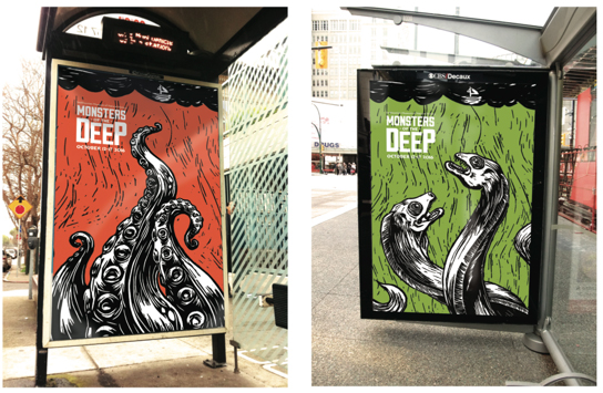 Monsters of the Deep posters © Gabby Shelley