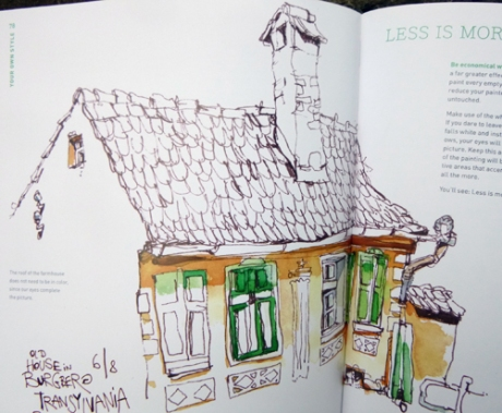 Sketch of House in Transylvania. © F.S.