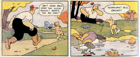 Gasoline Alley panels by Frank King, circa 1921.