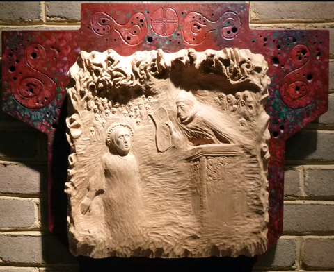 """""""Jesus is Condemned to Death."""" Station of the Cross by Tom Quirk."""