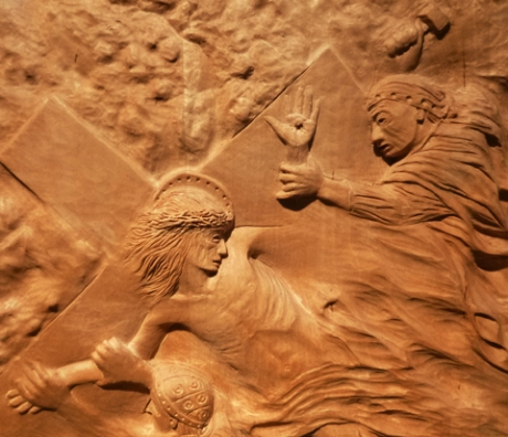 11. Jesus is nailed to the cross. (detail)