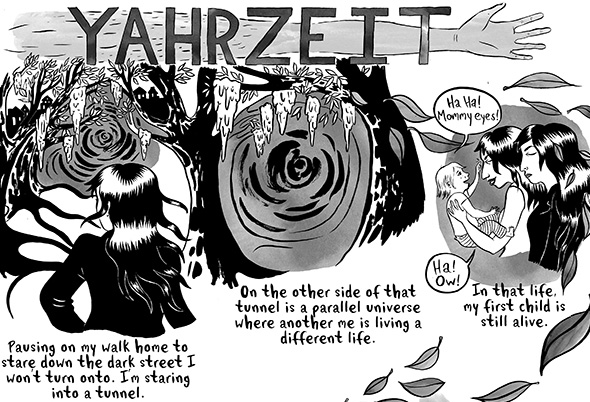 Yahrzeit detail © Leela Corman 2013.