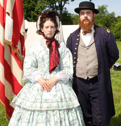 Kelly and her beau Kyle are civil war reenactors, here at the 150th anniversary of Monocacy. Photo my Mel Sessa.