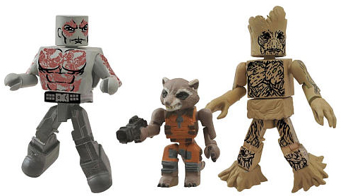 Grax, Rocket Racoon and Groot from Diamond Select Toys.
