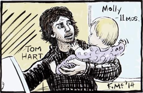 Tom Hart and Molly at NY Comic Symposium. K.McCloskey