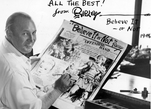 Robert Ripley at his drawing board from www.nealthompson.com