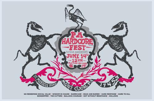 PA Hardcore Gig Poster ©  Greg Christman